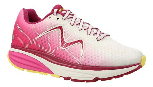 Womens MBT Simba 17 Walking Shoe - Cyan/White/Pink 10