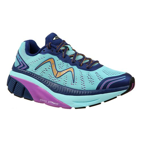 Womens MBT Zee 17 Running Shoe - Blue/Navy/Orange 6