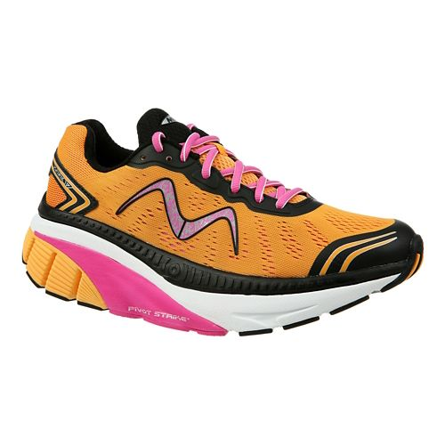 Womens MBT Zee 17 Running Shoe - Orange/Pink/Black 9