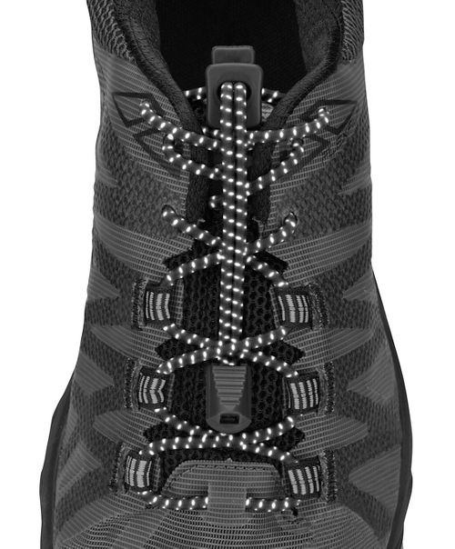 Nathan Reflective Run Laces Fitness Equipment - Reflective Black