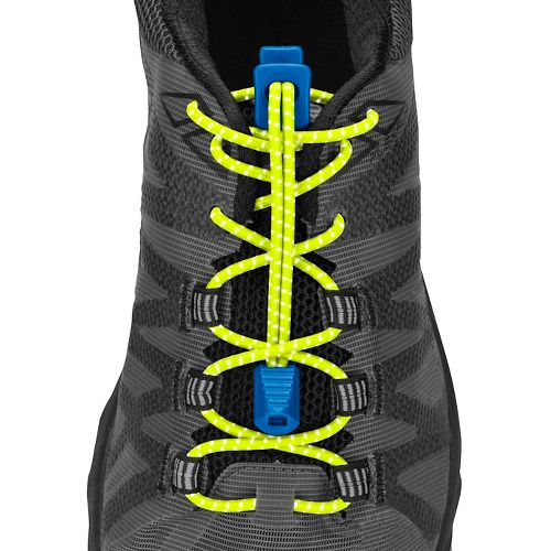 Nathan Reflective Run Laces Fitness Equipment - Reflective Yellow