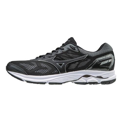 Mens Mizuno Wave Rider 21 Running Shoe - Black 11