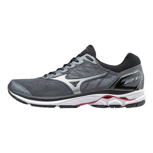 Mens Mizuno Wave Rider 21 Running Shoe - Grey/Red 11.5