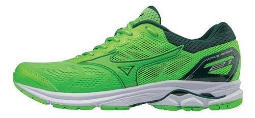 Mens Mizuno Wave Rider 21 Running Shoe - Green Slime/Gecko 9