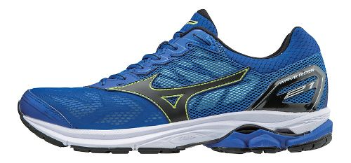 Mens Mizuno Wave Rider 21 Running Shoe - Blue/Yellow 10