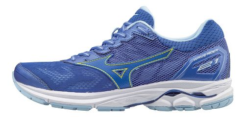Womens Mizuno Wave Rider 21 Running Shoe - Blue 10.5