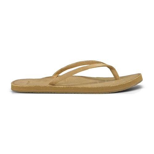 Womens Sanuk Slim Sadie Sandals Shoe - Tan 10