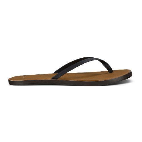 Womens Sanuk Yoga Aurora Sandals Shoe - Black 8
