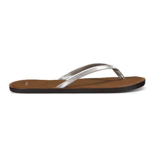 Womens Sanuk Yoga Aurora Glow Sandals Shoe - Silver 10