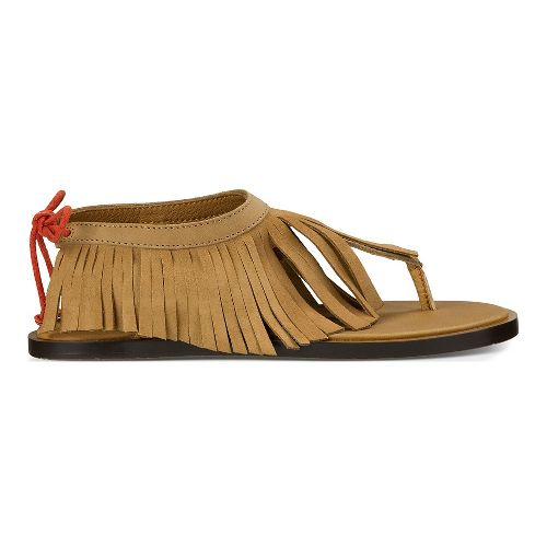 Womens Sanuk Yoga Fringe Sandals Shoe - Tobacco/Auburn 7