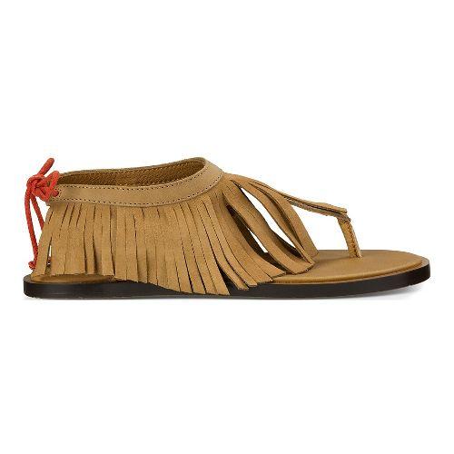 Womens Sanuk Yoga Fringe Sandals Shoe - Tobacco/Auburn 8