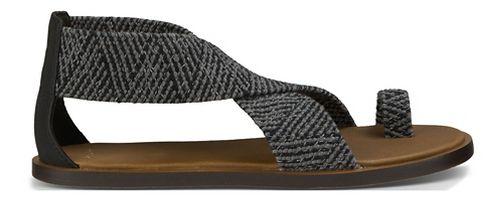 Womens Sanuk Yoga Gemini Sandals Shoe - Black 8