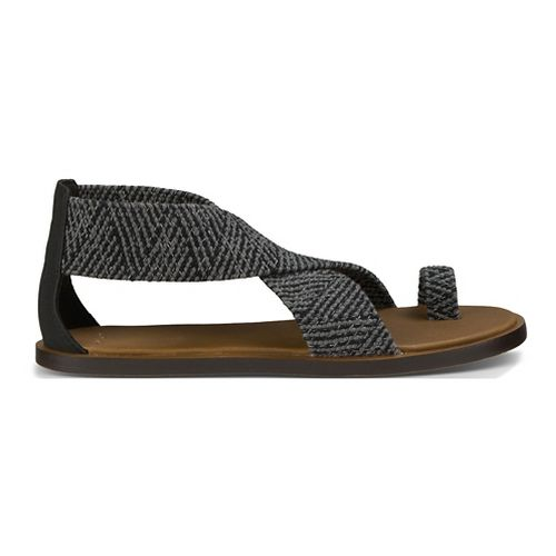 Womens Sanuk Yoga Gemini Sandals Shoe - Black 10