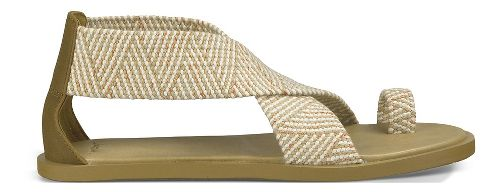 Womens Sanuk Yoga Gemini Sandals Shoe - Natural 10