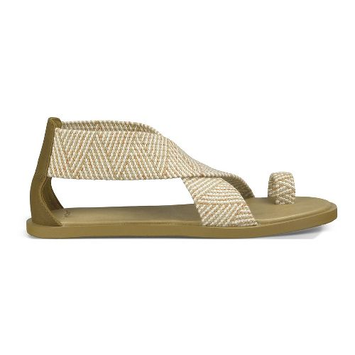 Womens Sanuk Yoga Gemini Sandals Shoe - Natural 8
