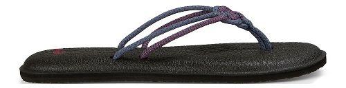 Womens Sanuk Yoga Knotty Sandals Shoe - Lead Grey/Wild Berry 5