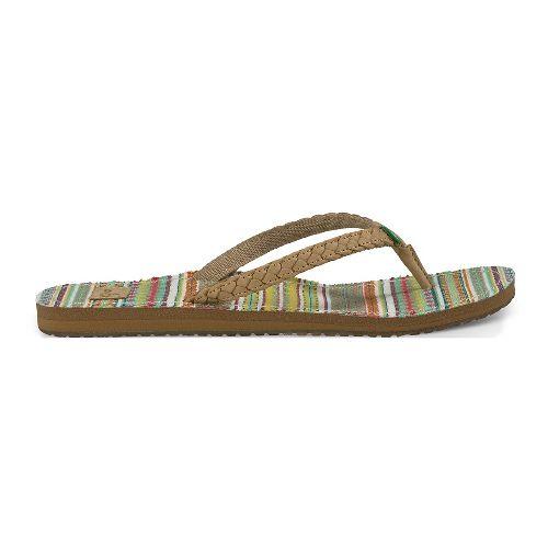 Womens Sanuk Yoga Poncho Viva Sandals Shoe - Sand/Citrus Lanai 6