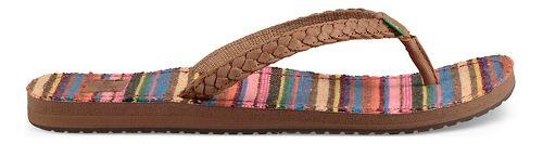 Womens Sanuk Yoga Poncho Viva Sandals Shoe - Pink Kauai Blanket 10