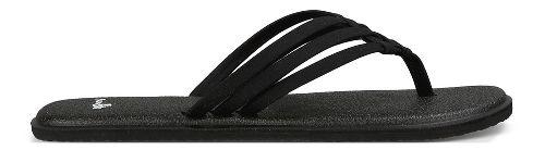 Womens Sanuk Yoga Salty Sandals Shoe - Black 5