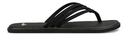 Womens Sanuk Yoga Salty Sandals Shoe - Black 9