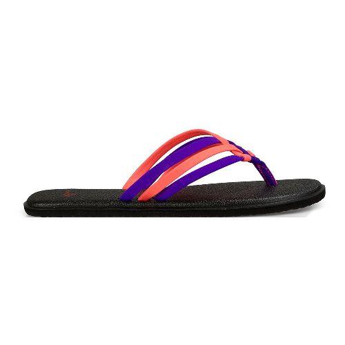 Womens Sanuk Yoga Salty Sandals Shoe - Liberty/Papaya 6