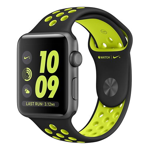 Apple Watch Nike+ 42MM Monitors - Black/Volt