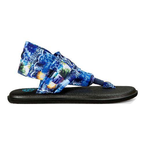 Womens Sanuk Yoga Sling 2 Blue Love Sandals Shoe - Blue Love 6