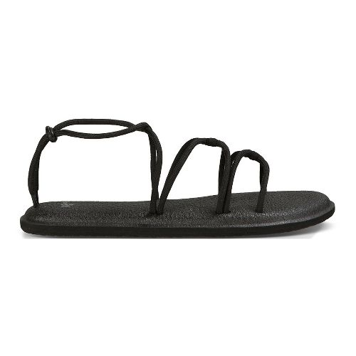 Womens Sanuk Yoga Sunrise Sandals Shoe - Black/White 7