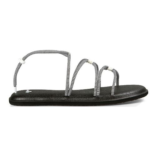 Womens Sanuk Yoga Sunrise Sandals Shoe - Black/White 9