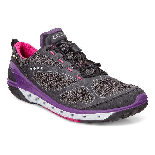 Womens Ecco BIOM Venture GTX Textile Casual Shoe - Black/Grey/Purple 37