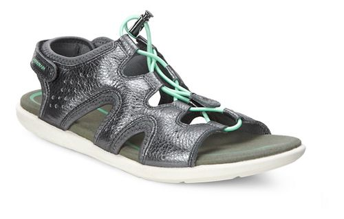 Womens Ecco Bluma Toggle Sandals Shoe - Dark Shadow 39