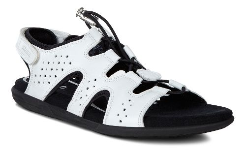 Womens Ecco Bluma Toggle Sandals Shoe - White 42
