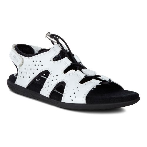 Womens Ecco Bluma Toggle Sandals Shoe - White 41