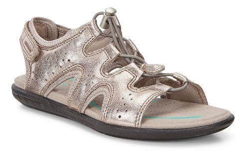 Womens Ecco Bluma Toggle Sandals Shoe - Warm Grey 42