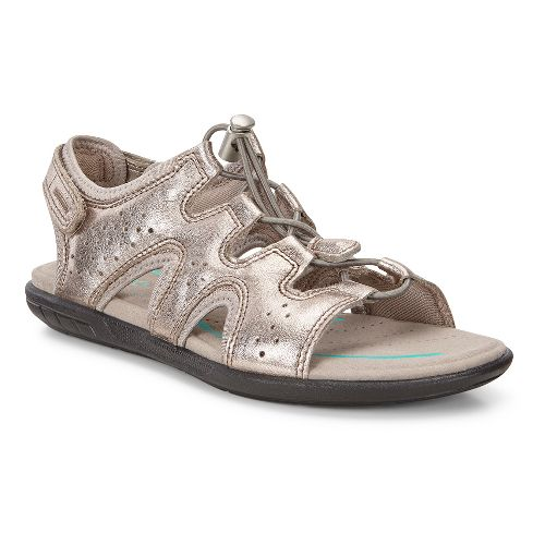 Womens Ecco Bluma Toggle Sandals Shoe - Warm Grey 37
