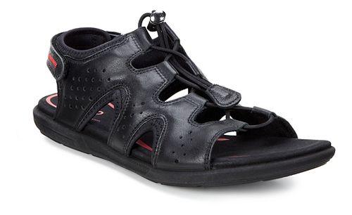 Womens Ecco Bluma Toggle Sandals Shoe - Black 42