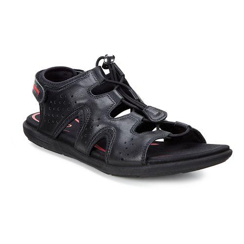 Womens Ecco Bluma Toggle Sandals Shoe - Black 37
