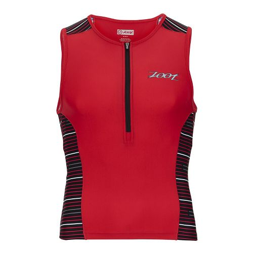 Mens Zoot Performance Tri Sleeveless & Tank Tops Technical Tops - Red Jetty L