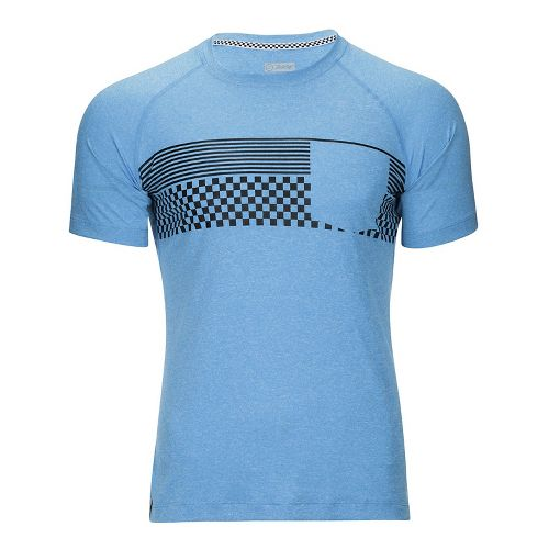 Mens Zoot Surfside Ink Tee Short Sleeve Technical Tops - Pacific Checkers L