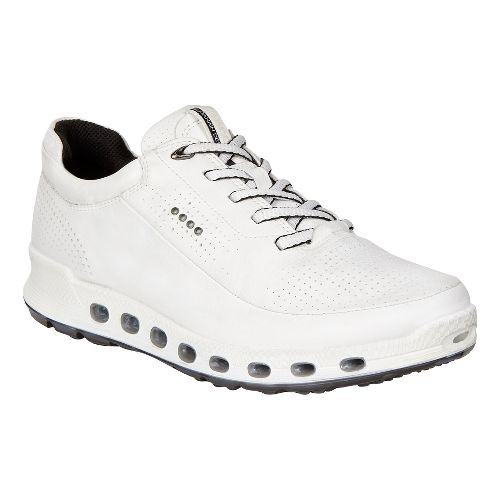 Womens Ecco Cool 2.0 GTX Leather Casual Shoe - White 36