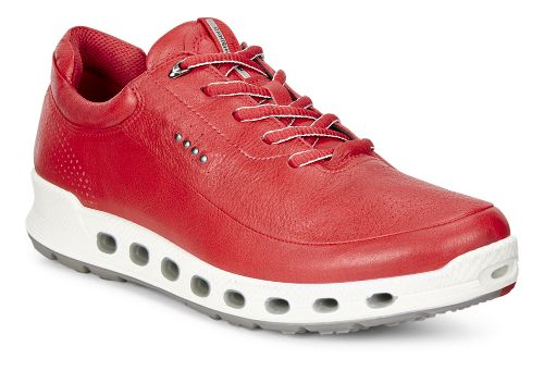 Womens Ecco Cool 2.0 GTX Leather Casual Shoe - Tomato 39