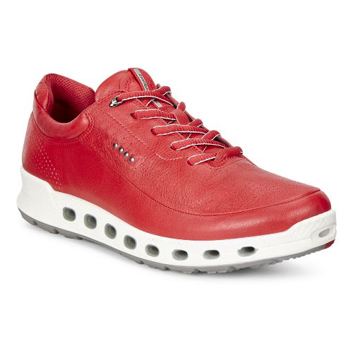 Womens Ecco Cool 2.0 GTX Leather Casual Shoe - Tomato 37