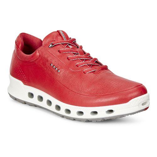 Womens Ecco Cool 2.0 GTX Leather Casual Shoe - Tomato 38