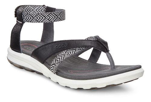 Womens Ecco Cruise Sport Sandals Shoe - Black 38