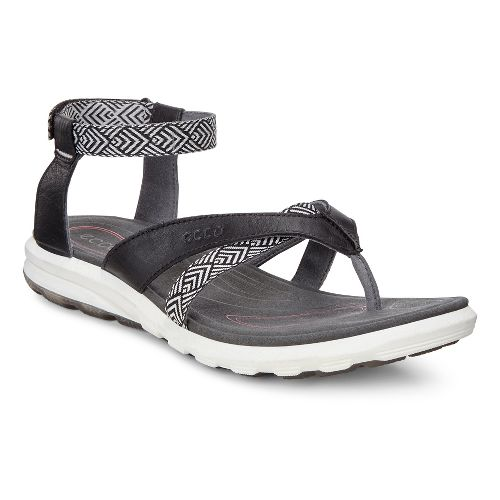 Womens Ecco Cruise Sport Sandals Shoe - Black 36