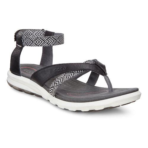 Womens Ecco Cruise Sport Sandals Shoe - Black 40