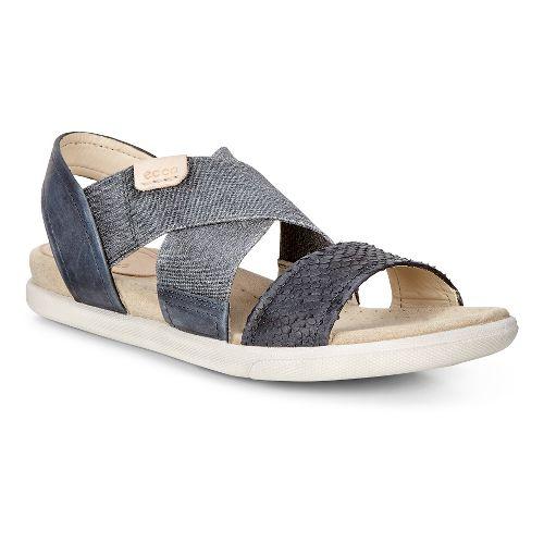 Womens Ecco Damara 2-Strap Sandals Shoe - Black 41