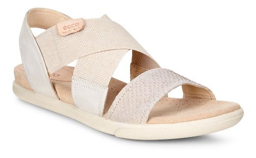 Womens Ecco Damara 2-Strap Sandals Shoe - Moon Rock/Gravel 42
