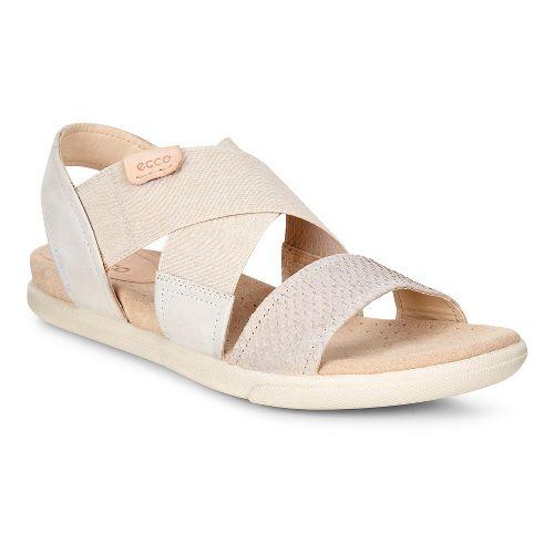 Womens Ecco Damara 2-Strap Sandals Shoe - Moon Rock/Gravel 37