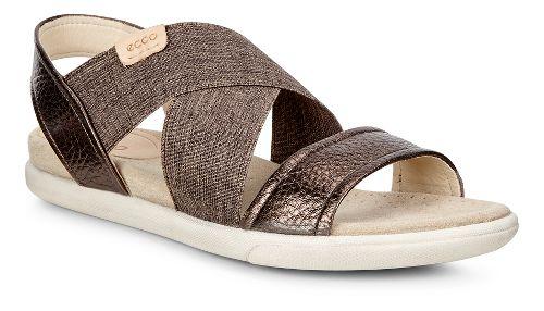 Womens Ecco Damara 2-Strap Sandals Shoe - Licorice/Powder 38